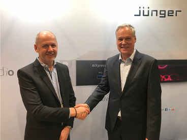 Marcus Lundahl, Managing Director/VD of Danmon Group Sweden and Martin Schlockwerder, MD of Jünger Audio